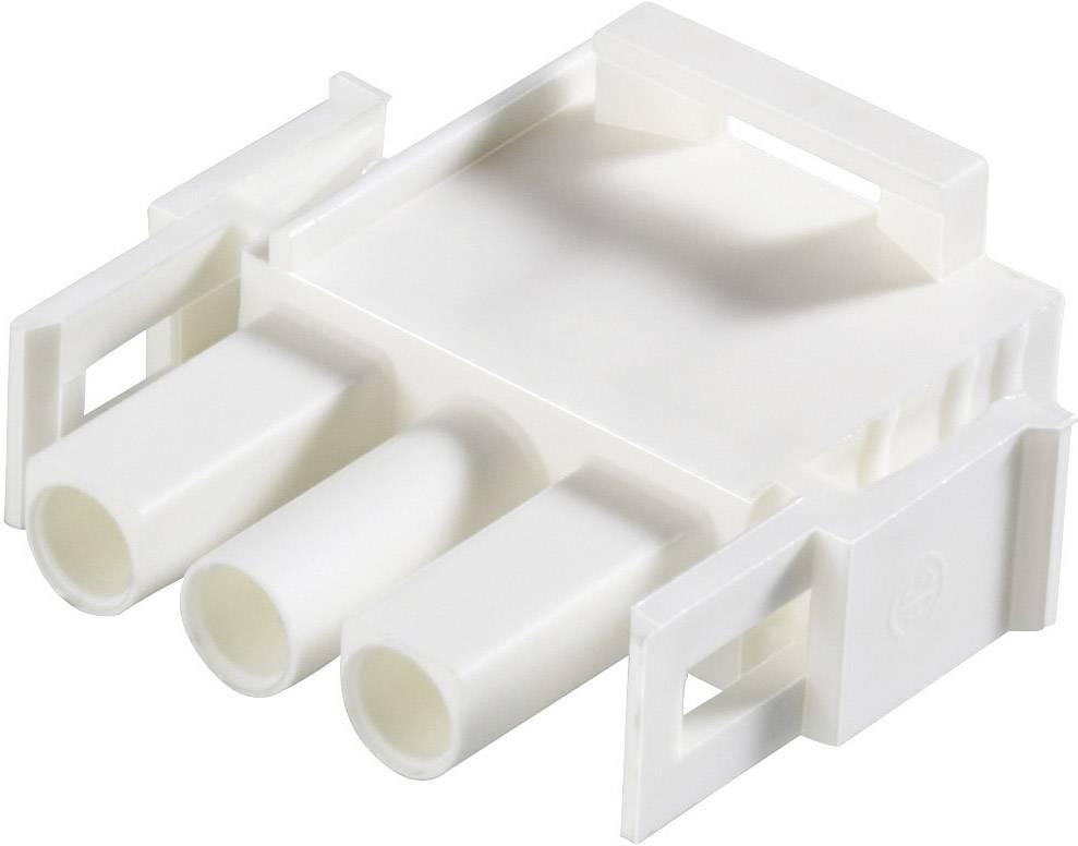 Zástrčkové puzdro na kábel TE Connectivity 350735-4, počet pólov 12, raster 6.35 mm, 1 ks