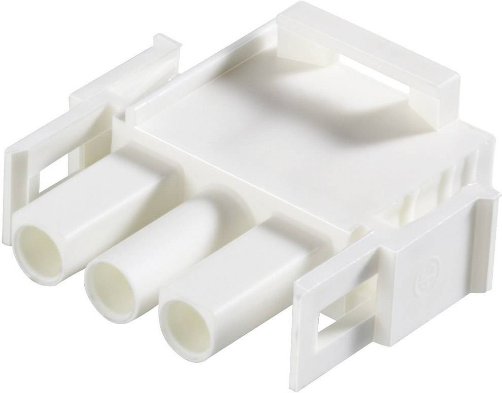 Zástrčkové puzdro na kábel TE Connectivity 350766-4, počet pólov 3, raster 6.35 mm, 1 ks