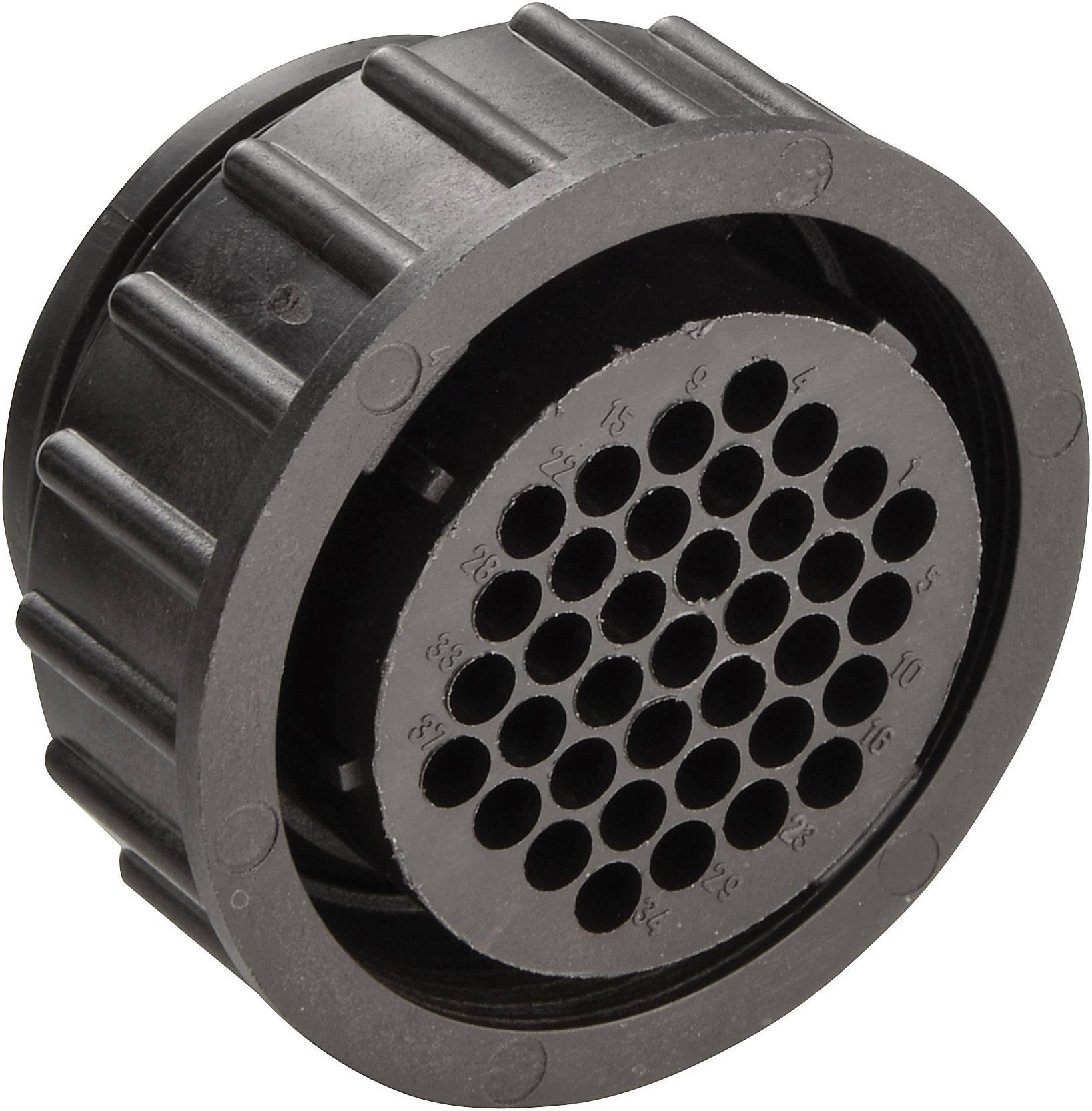 Kulatý konektor TE Connectivity, 182923-1, 37pólový