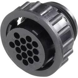 CPC zásuvkové pouzdro s převlečnou matkou TE Connectivity 182645-1, 9pól., černá