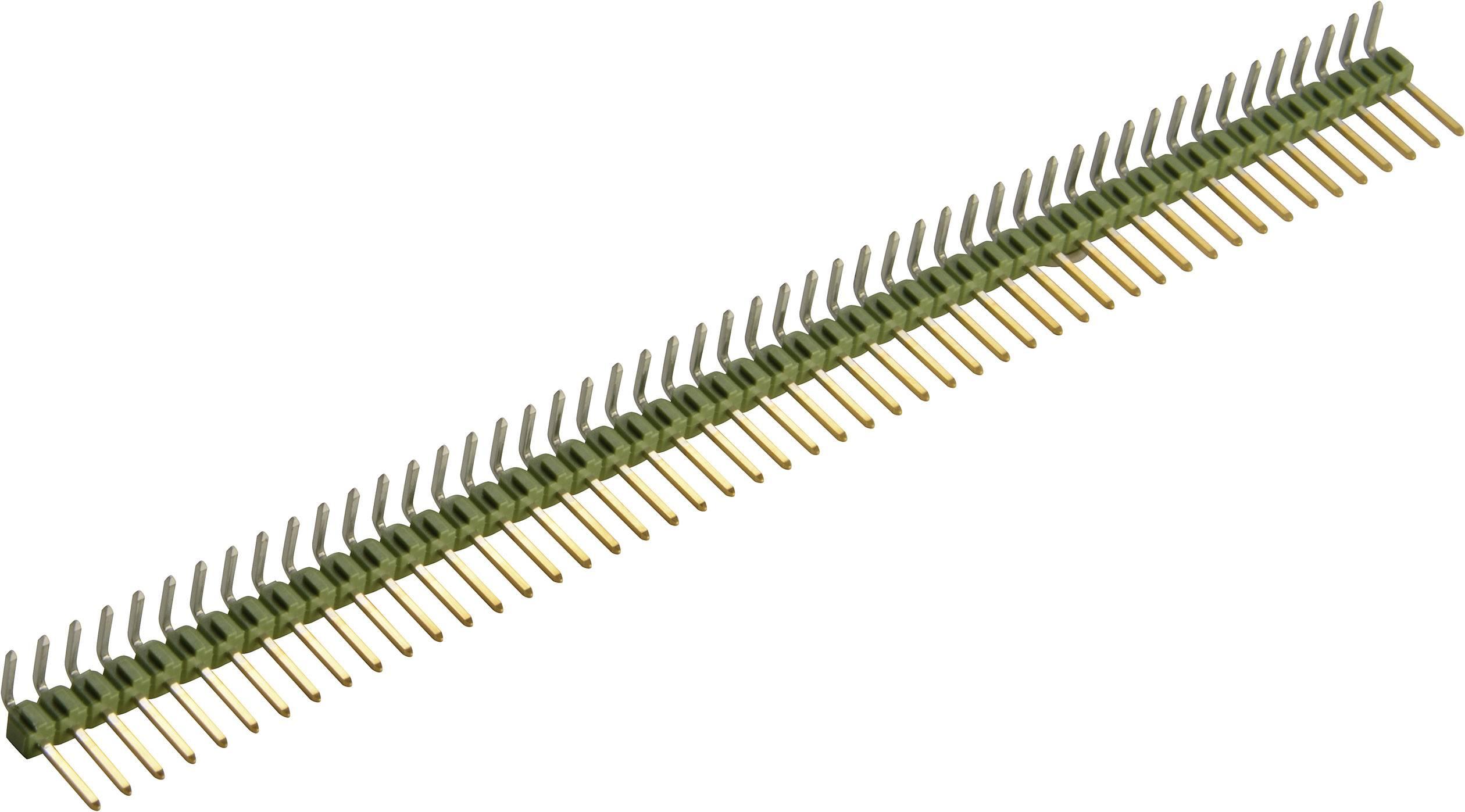 Kolíková lišta TE Connectivity 5-826631-0, úhlová, 1x 50 pin, pozlacená, 3 A, 100 V