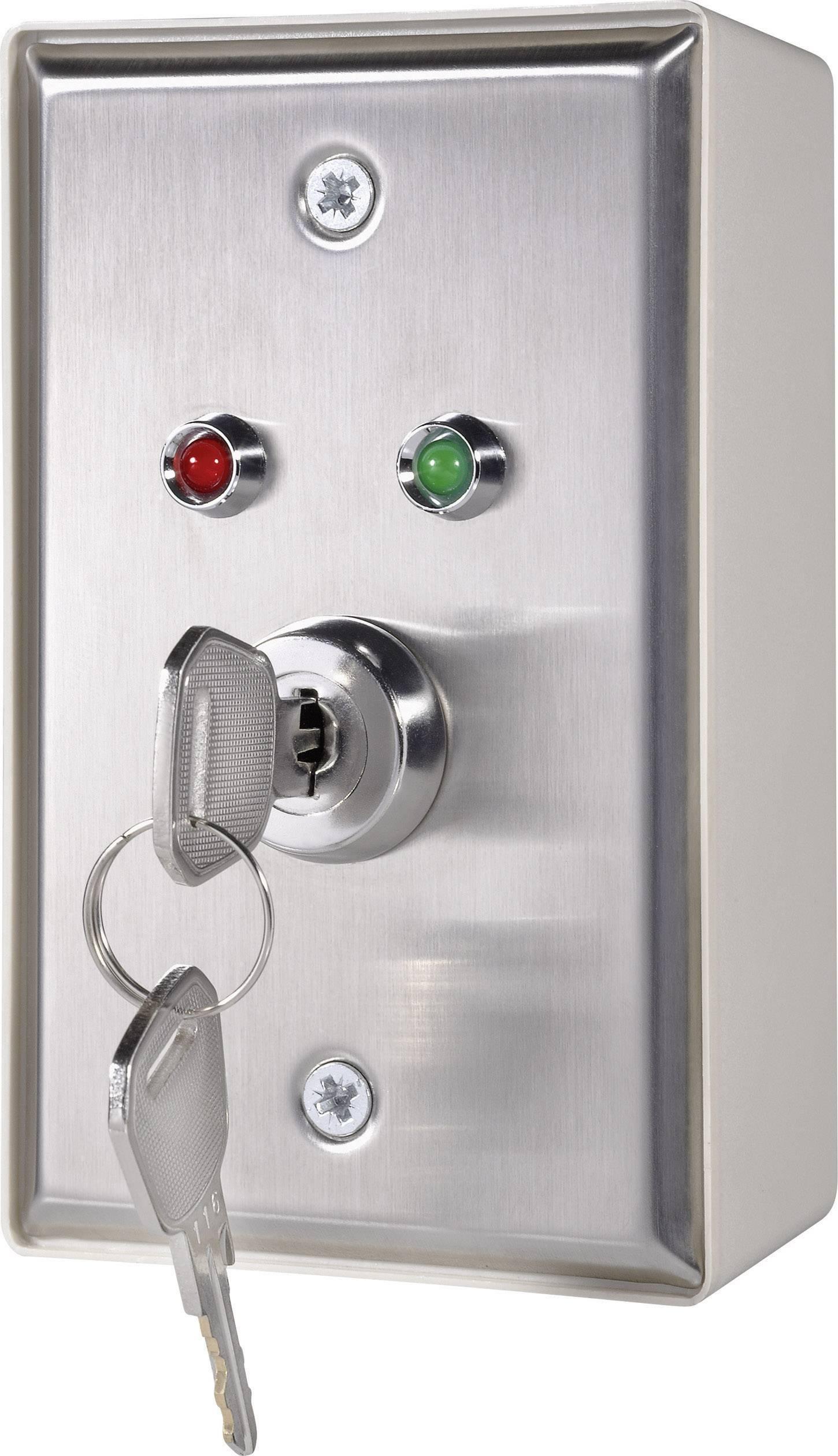 Kľúčový spínač RKS-2M RKS-2M, 35 V/DC, 3 A, 1x vyp/zap, 1 x 90 °, 1 ks