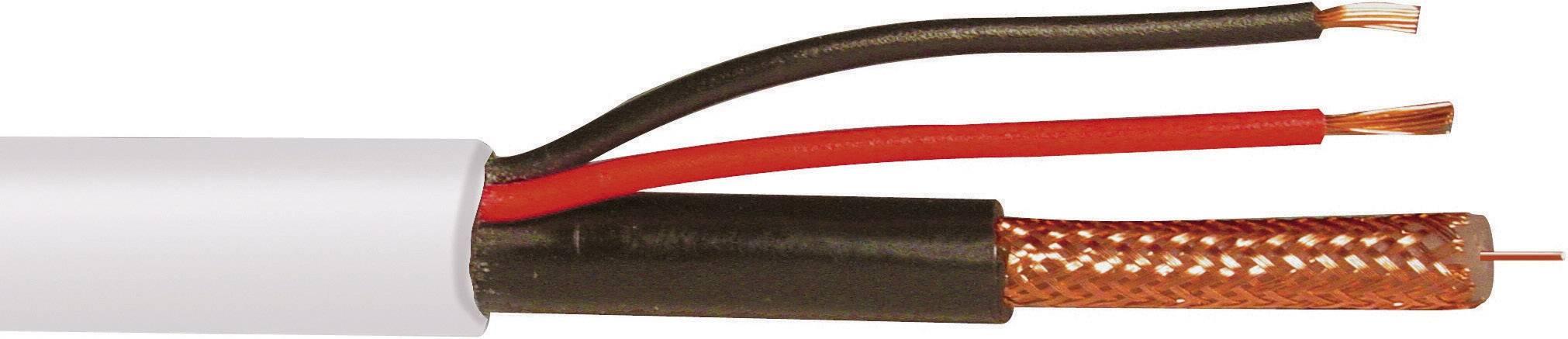 Video kabel ABUS KA9002, 2 x 0.75 mm², bílá, 50 m