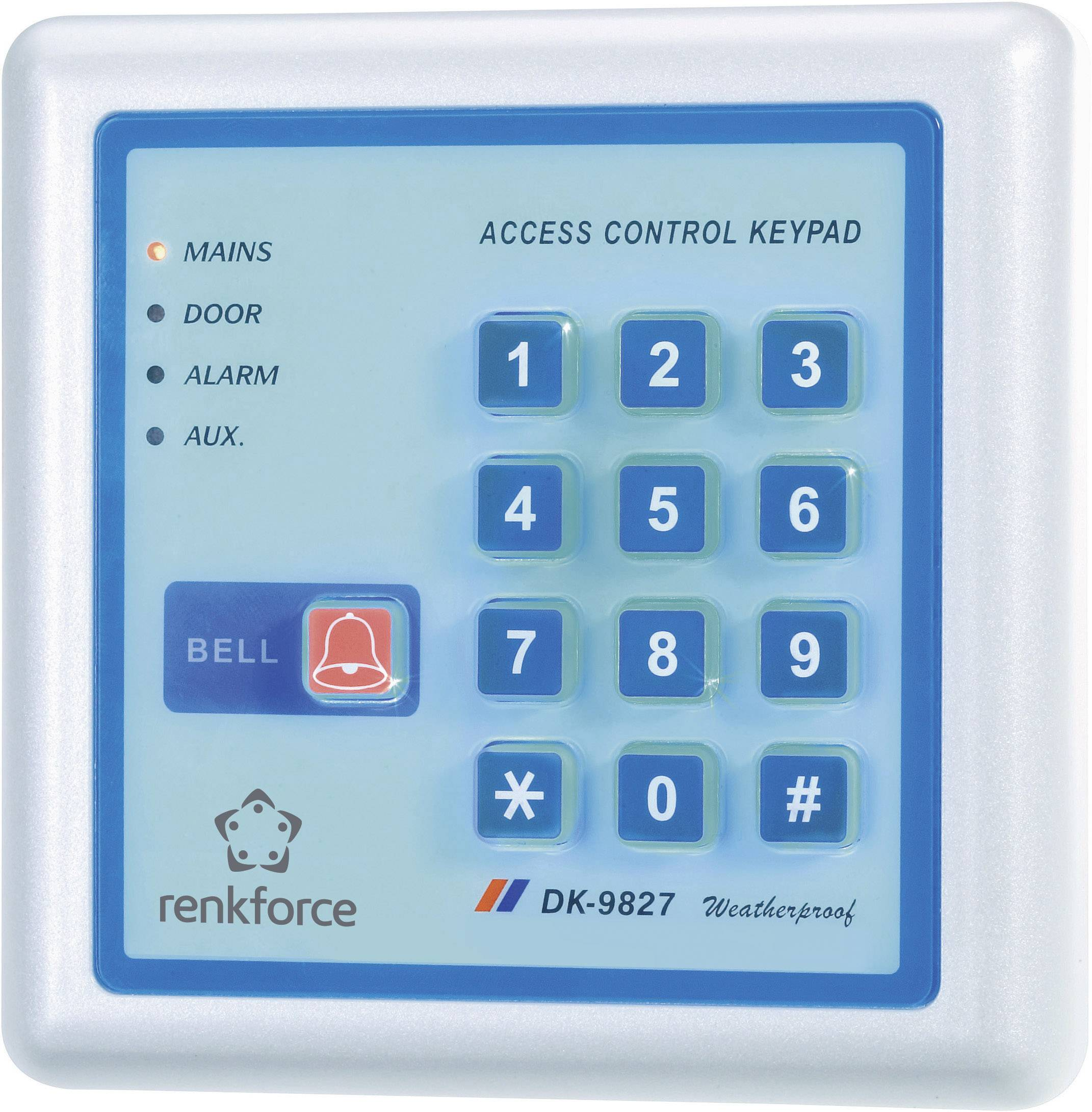 Kódová klávesnica s podsvietením, 2-kanálová