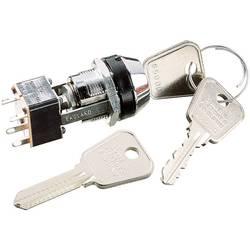 Kľúčový spínač Lorlin MSL-8602B MSL-8602B, 250 V/AC, 4 A, 2x zap/vyp, 1 x 90 °, 1 ks