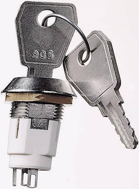 Kľúčový spínač Lorlin SRL-5DS2 SRL-5DS2, 50 V/DC, 3 A, 1 zap/zap, 1 x 90 °, 1 ks