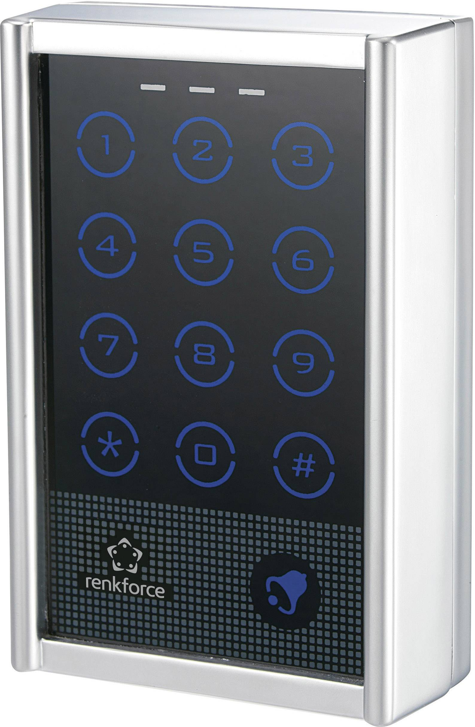Voděodolná dotyková kódová klávesnice, Renkforce 751402, 12 - 24 V/AC/DC, IP65