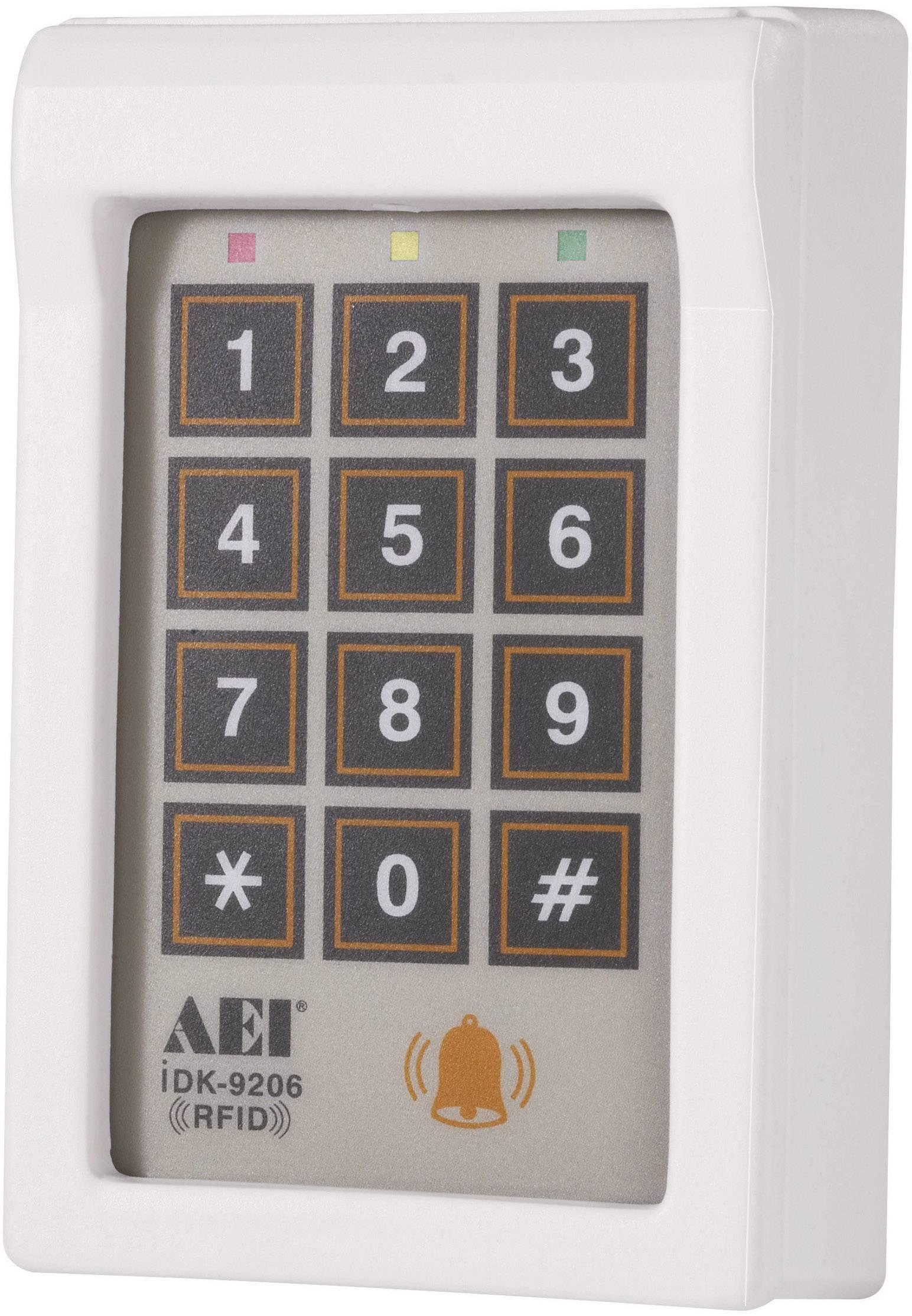 Voděodolná kódová klávesnice se čtečkou karet iDK-9206, 12 V/DC