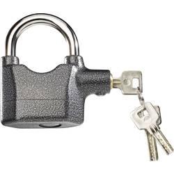 Visací zámek na klíč se sirénou 751710, 95 mm, antracitová