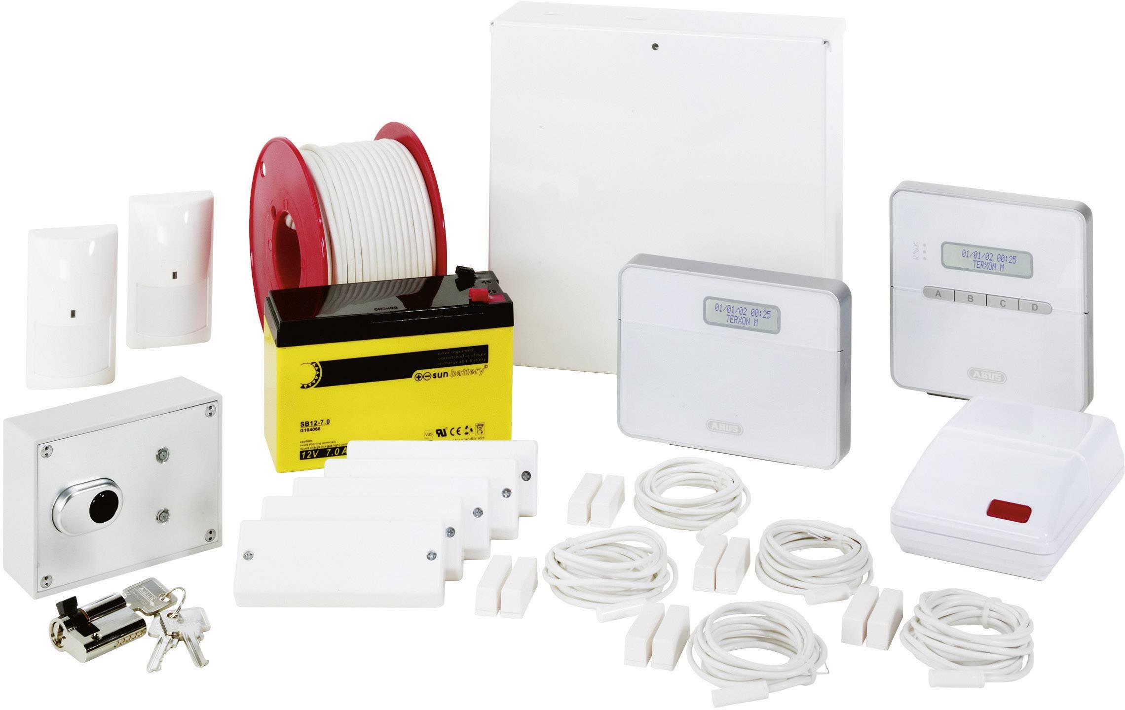 Kompletná sada alarmu ABUS Terxon SX Profiline Alarmpaket AZ4350, 8 programovacích okruhov s káblovým prepojením so senzorm, 1 okruh s funkciou ochrany proti sabotáži