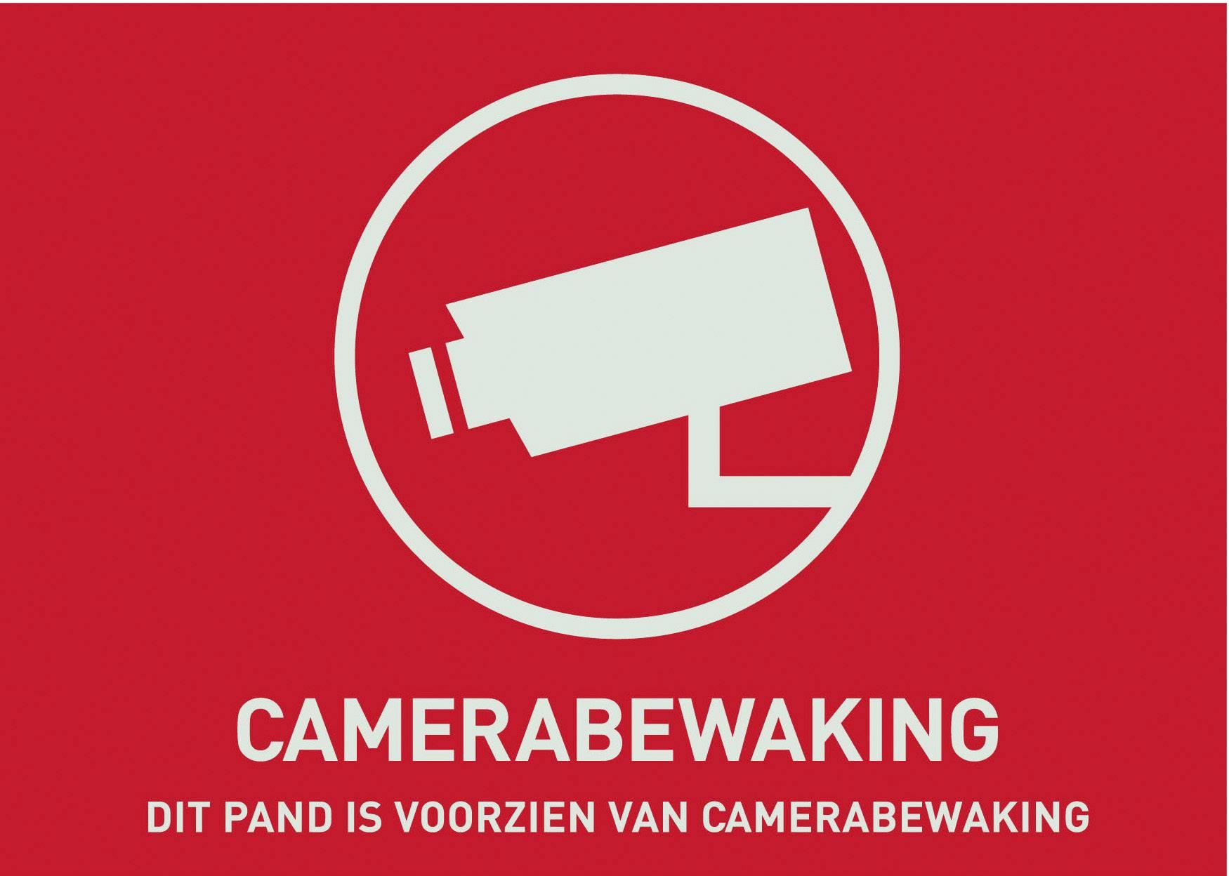 Nálepka Objekt hlídán kamerou ABUS AU1304, holandsky, 148 x 105 mm