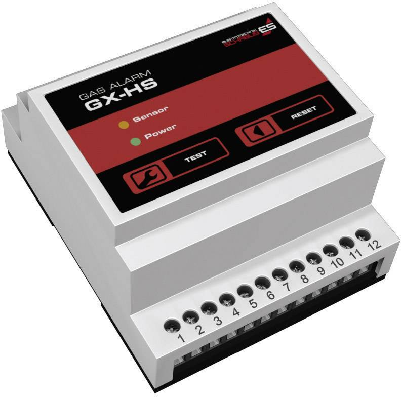 Detektor úniku plynu na DIN lištu Schabus ES GX-HS