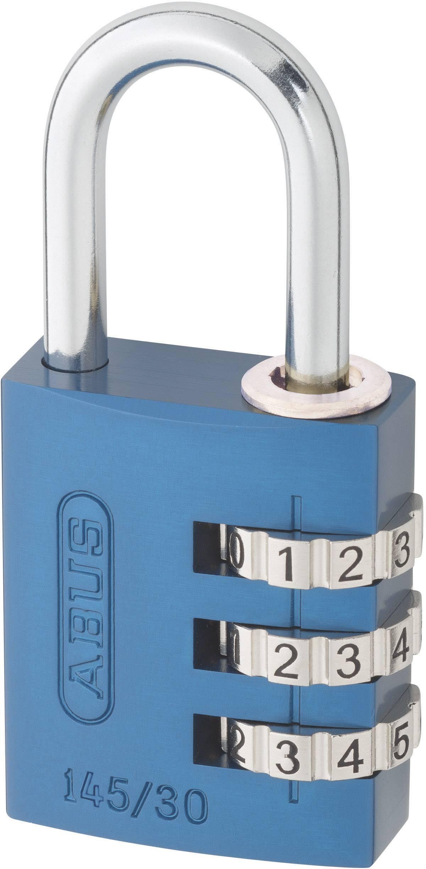 Visiaci zámok s číselnou kombináciou ABUS 145/30, modrý