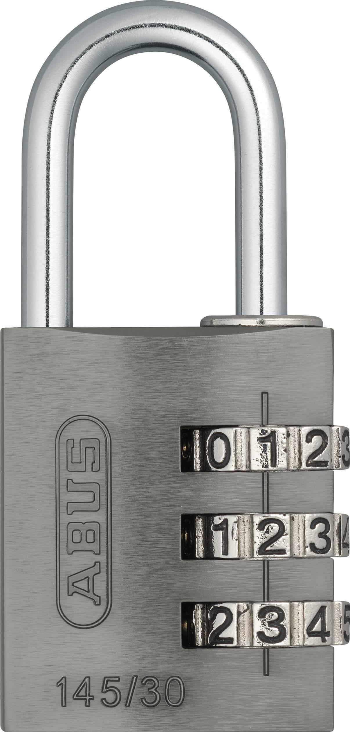 Visiaci zámok s číselnou kombináciou ABUS 145/30, titánový