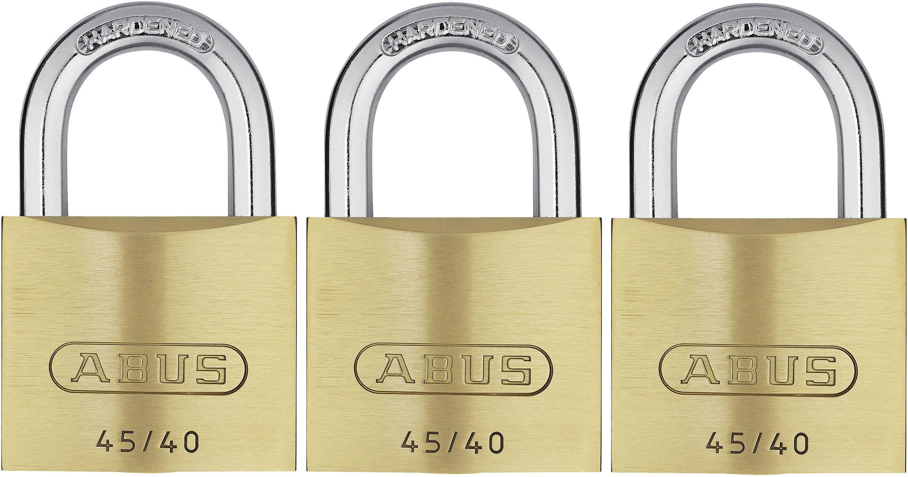 Visiaci zámok na kľúč ABUS ABVS11825, 39 mm, sada 3 ks