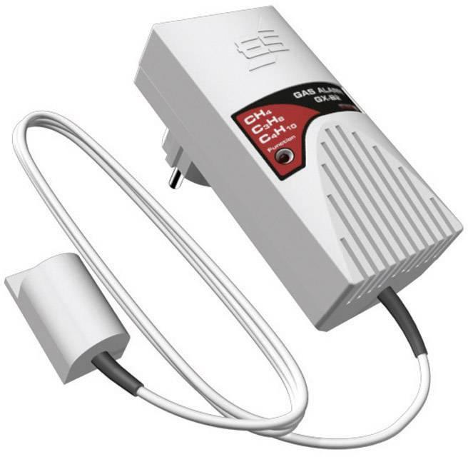 Detektor úniku plynu do zásuvky Schabus ES GX-B2, externý senzor