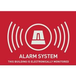 Nálepka Zabezpečené alarmom ABUS AU1315, anglický, 74 x 52,5 mm