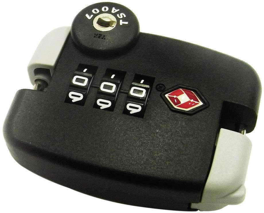 Zámek na zip s číselnou kombinací TSA, černá