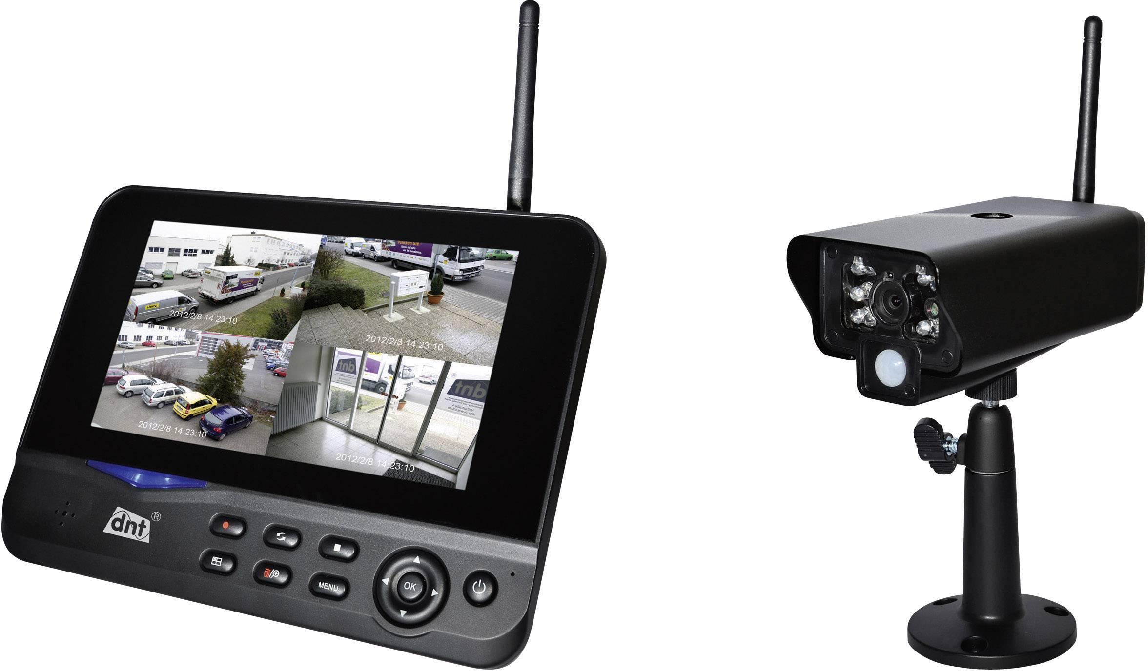 """Bezdrátová venkovní kamera s monitorem 7"""" dnt Quattsecure Starterset, 52200, 2,4 GHz"""