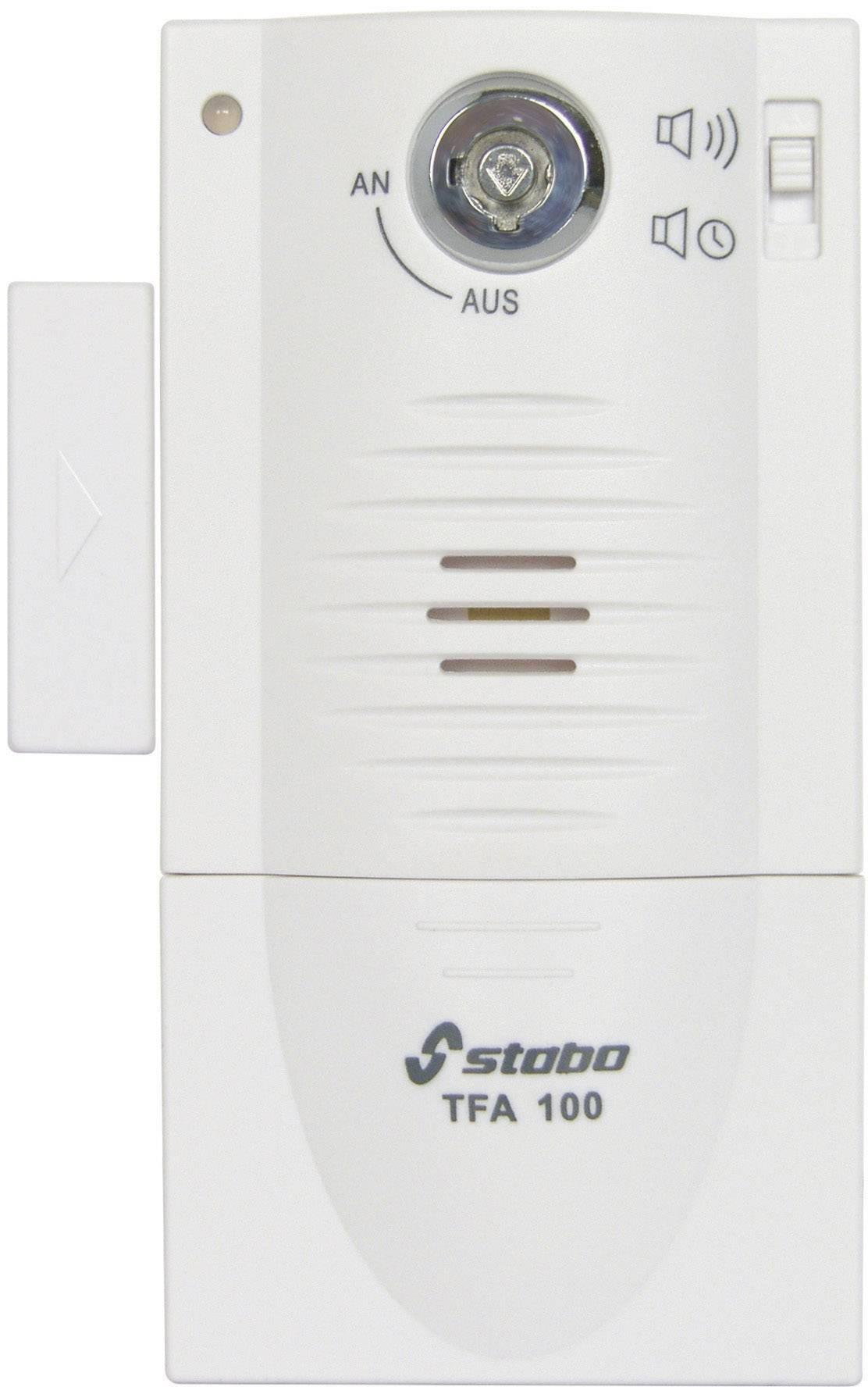 Dverový/okenný alarm Stabo TFA 100 51109, 90 dB, biela
