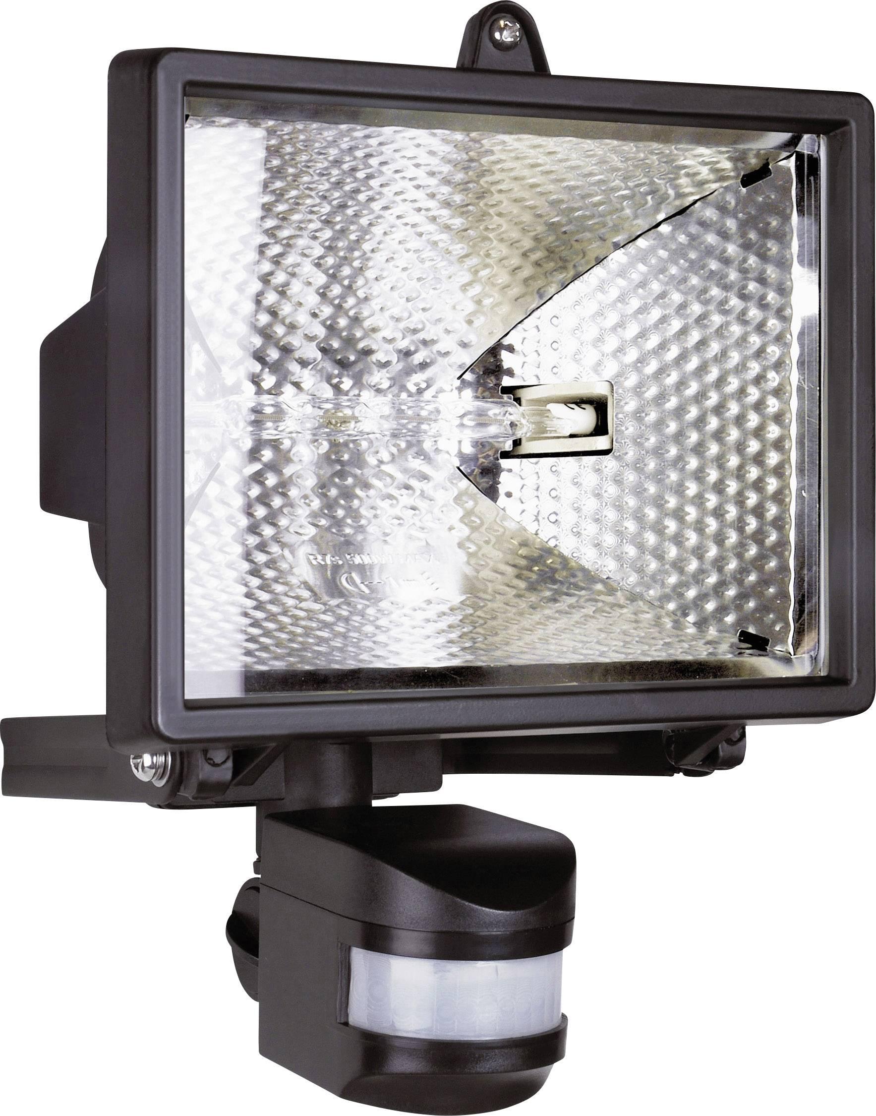 Halogénový reflektor s detektorom pohybu, R7s, 400 W, IP44, čierny