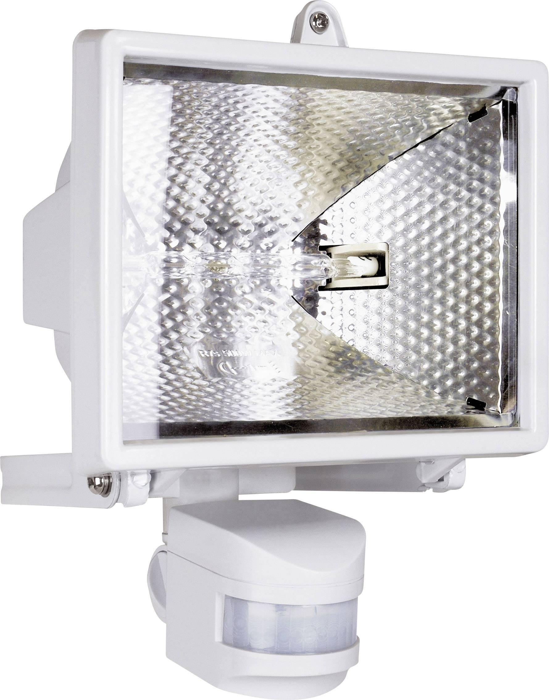 Halogénový reflektor s detektorom pohybu, R7s, 400 W, IP44, biely