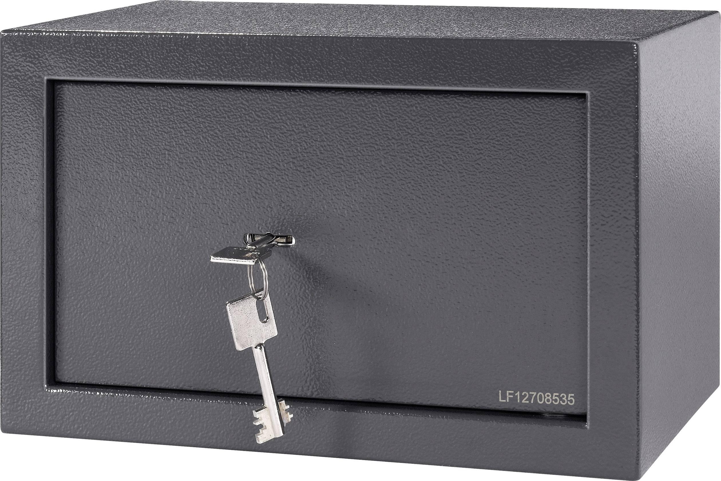 Oceľový sejf na kľúč 20, 310 x 200 x 200 mm, antracit