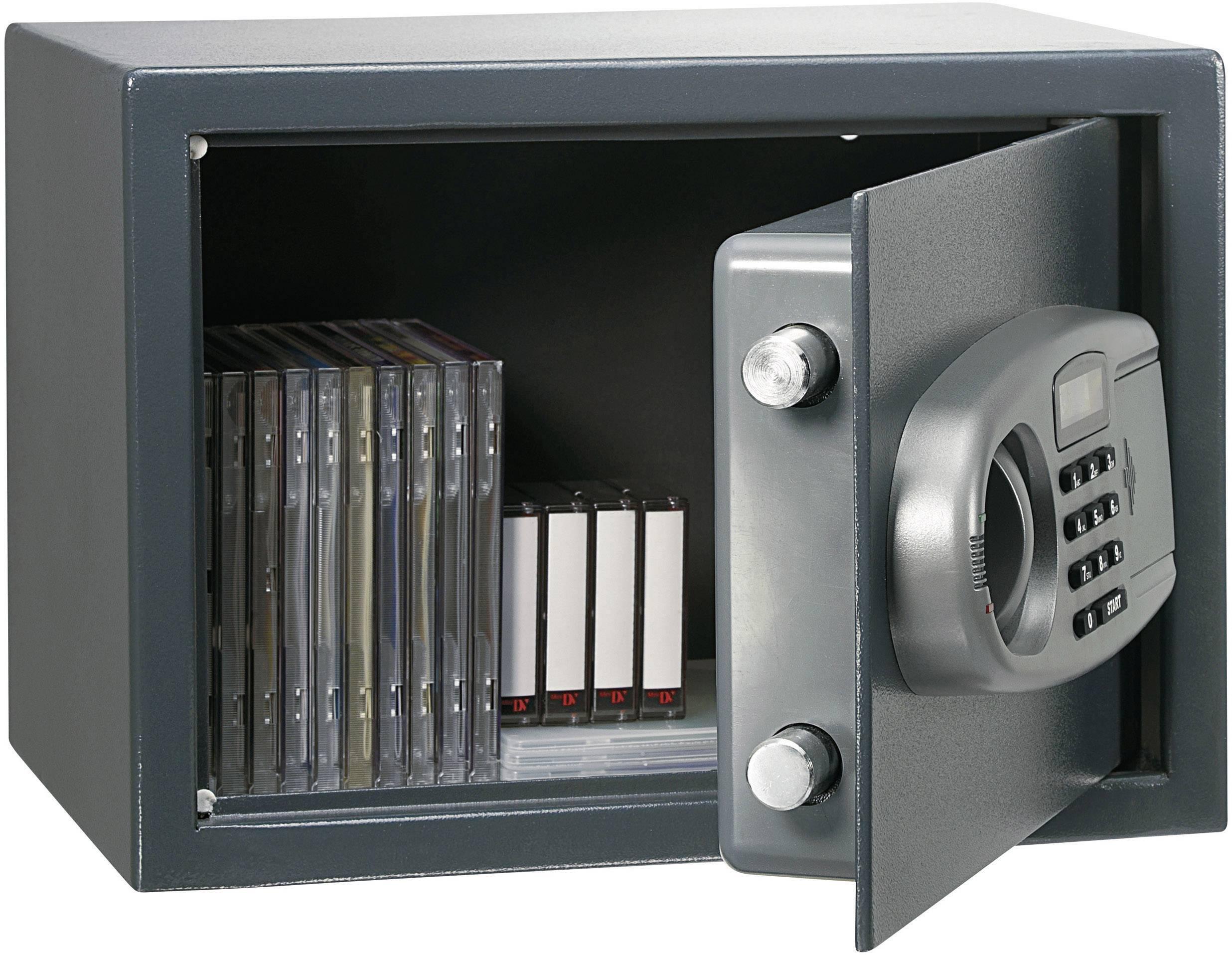 Elektronický sejf 25, 350 x 250 x 250 mm, antracit