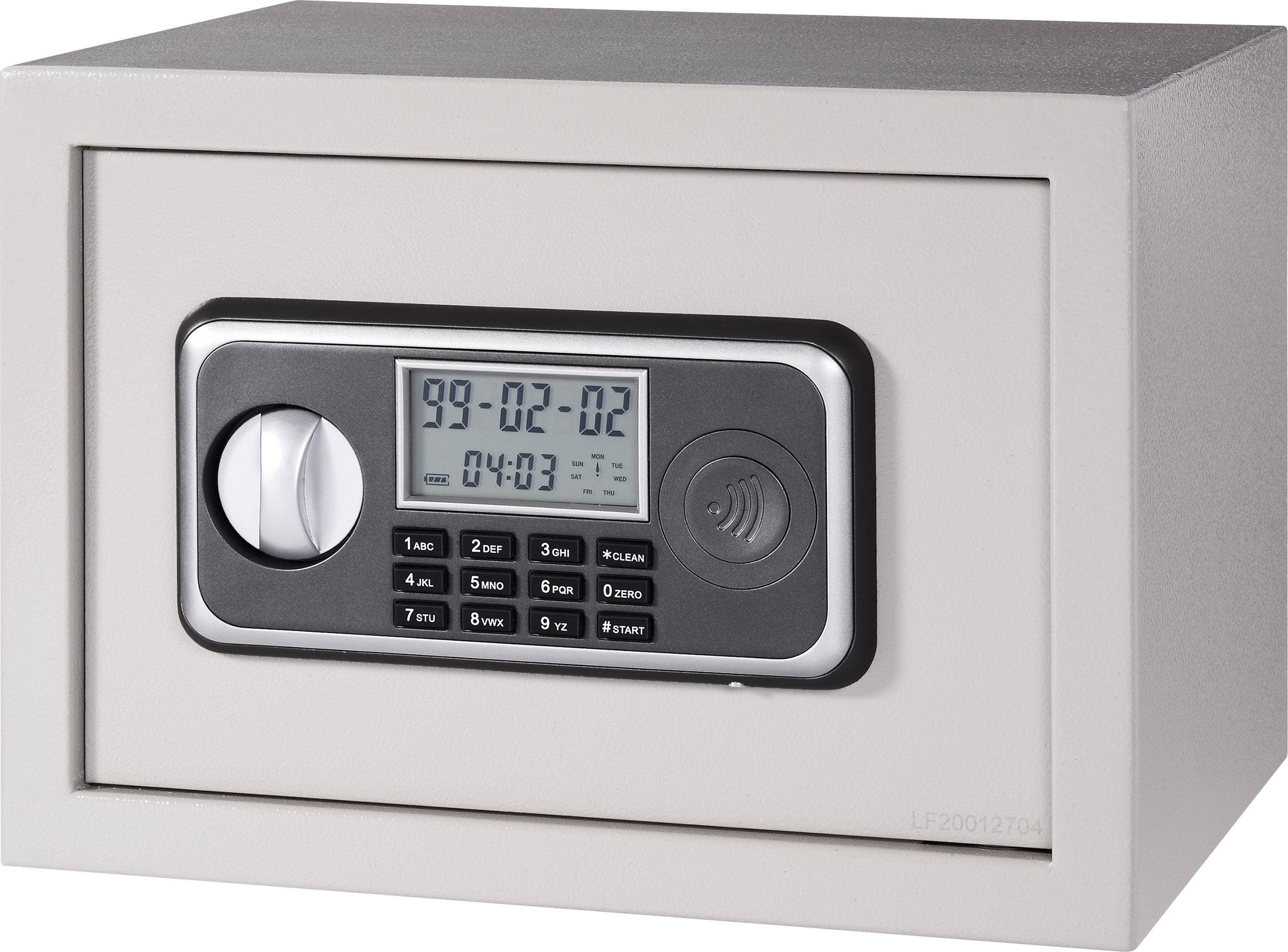 Elektronický sejf 25 LCD, 350 x 250 x 250 mm, šedý