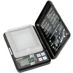 Kapesní váha Kern Max. váživost 10 g Rozlišení 0.002 g na baterii černá