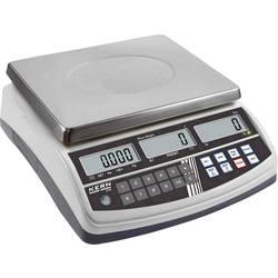 Počítací váha Kern CPB 30K5DM+C, Max. váživost 30 kg, Rozlišení 5 g, 10 g, stříbrná, Kalibrováno dle (DAkkS)
