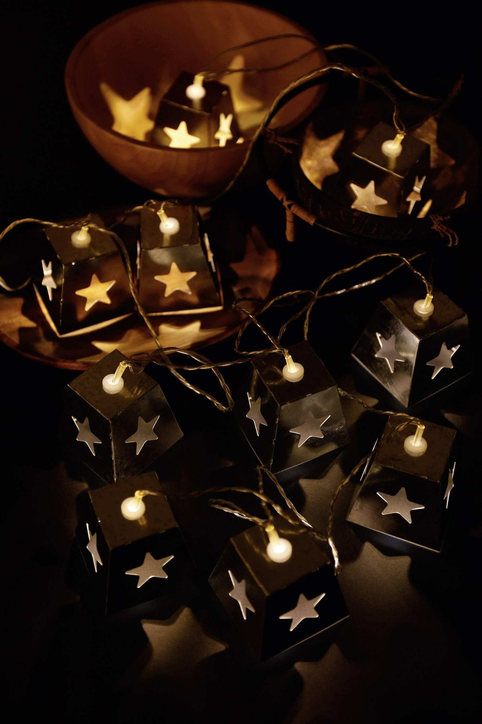 Vnútorná vianočná reťaz Polarlite, 10 LED, teplá biela