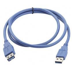 USB 3.0 prodlužovací kabel Manhattan 322379-CG, 2.00 m, modrá