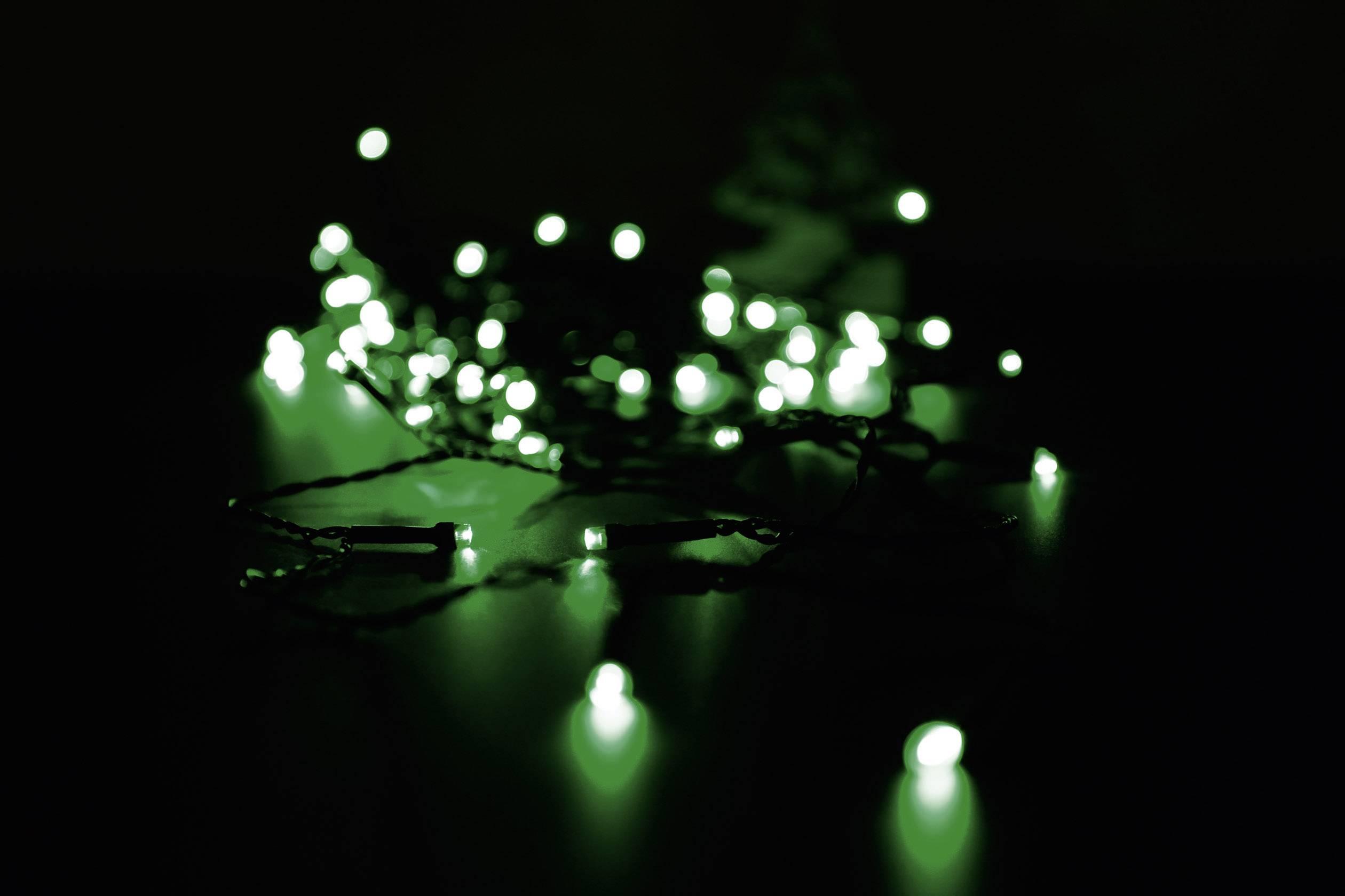 Vnútorná vianočná reťaz Polarlite, 80 LED, zelená