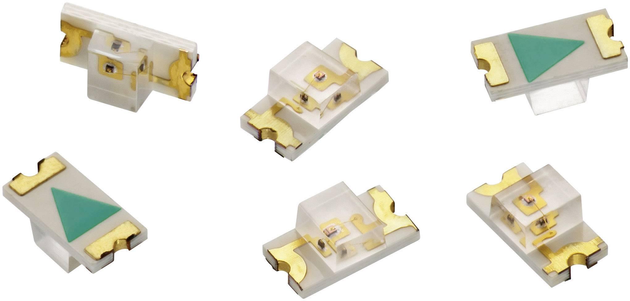SMD LED Würth Elektronik, 156120GS75000, 25 mA, 3,3 V, 140 °, 235 mcd, zelená