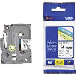Páska do štítkovače Brother TZ-221, 9 mm, TZe, TZ, 8 m, černá/bílá