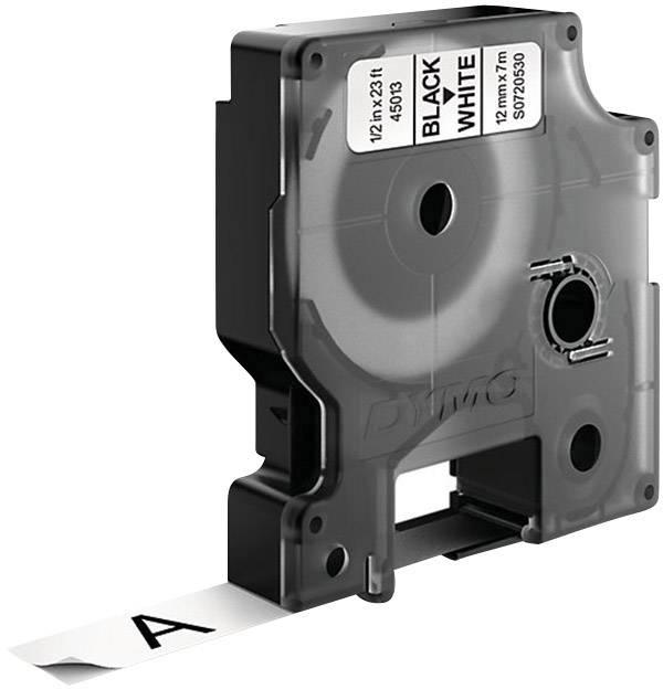 Páska do štítkovača DYMO 45013, 12 mm, 7 m, čierna, biela