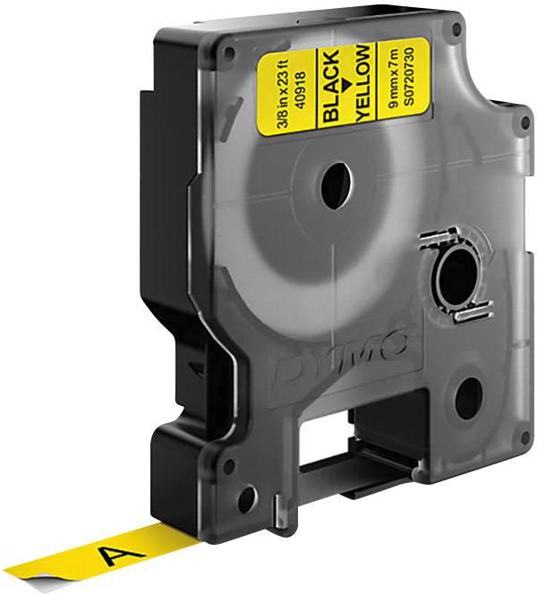 Páska do štítkovača DYMO 40918, 9 mm, 7 m, čierna, žltá