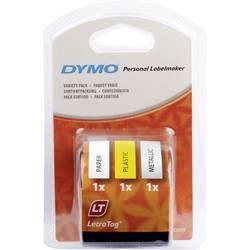 Páska do štítkovača DYMO 91241, 12 mm, 4 m, čierna, žltá Hyper, strieborná, biela