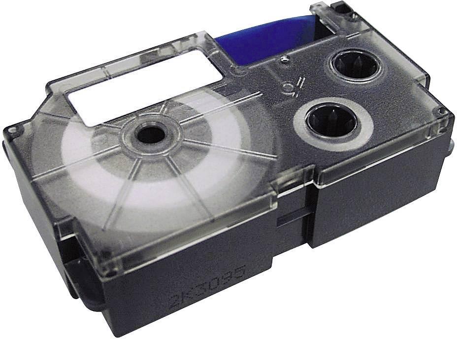Páska do štítkovača Casio XR-12WE1, 12 mm, 8 m, čierna, biela