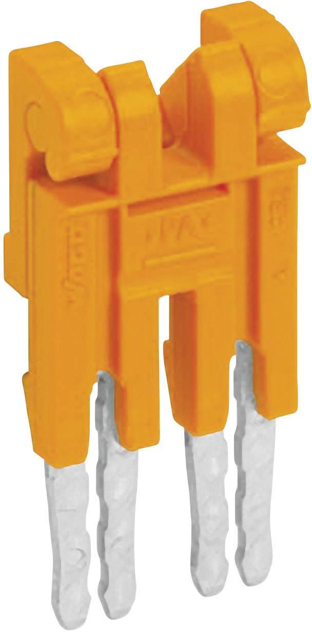 Můstek 4nás. Wago 282-434/100-000, izolovaný, oranžová