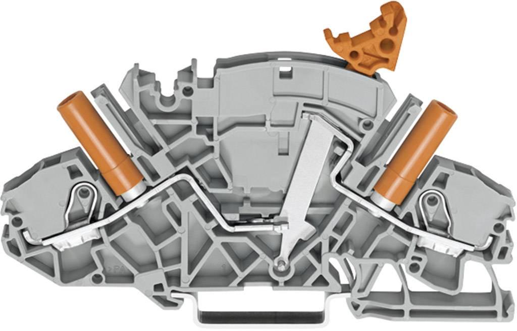 Oddělovací svorka Wago 2007-8821, pružinová, 8 mm, šedá
