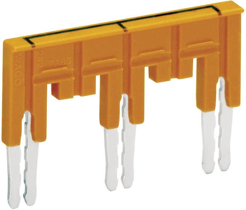 Můstek 1-3-5-7 Wago 282-437/011-000, izolovaný, oranžová