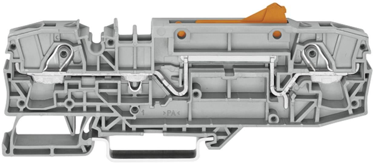 Oddělovací svorka Wago 2006-8671, pružinová, 8 mm, šedá