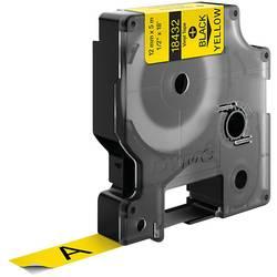 Páska do štítkovače DYMO 18432 (S0718450), 12 mm, IND RHINO, 5,5 m, černá/žlutá