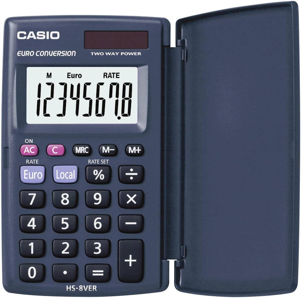 Kapesní kalkulačka Casio HS-8VER, tmavě modrá