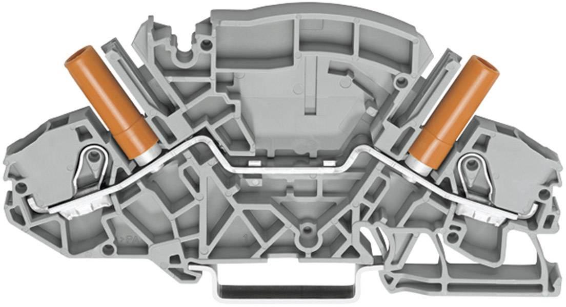 Průchozí svorka Wago 2007-8801, pružinová, 8 mm, šedá