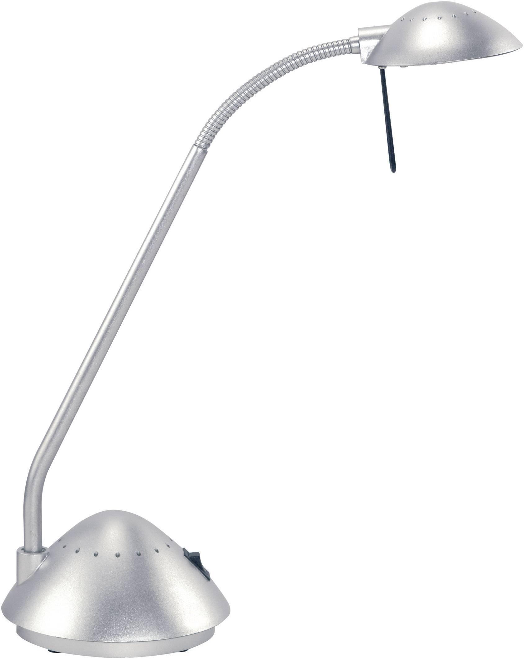 Halogenová stolní lampa Maul ARC II, G4, 20 W, stříbrná