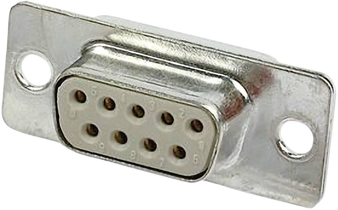 D-SUB zásuvková lišta Harting 09 67 209 4704, 180 °, pólů 9, pájecí kalíšek, 1 ks