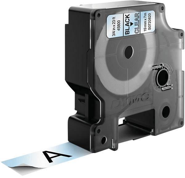 Páska do štítkovače DYMO 45800 (S0720820), 19 mm, D1, 7 m, černá/transp.